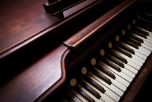 A Closesup Of A Antique Organ