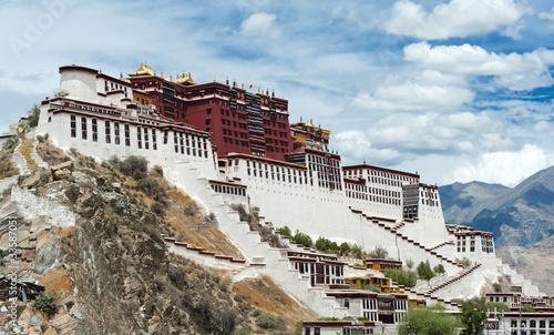 Leinwand Poster Potala palace in Lhasa, Tibet