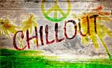 Fototapeta Młodzieżowe - Chillout Grafitti auf altem Holzbrett