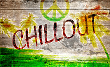 Chillout Grafitti Auf Altem Ho...