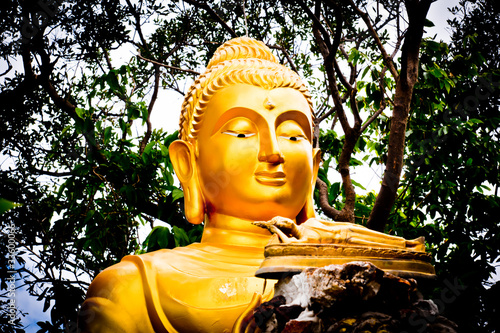 Buddha statue filled with compassion