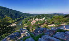 Panorama Over Harpers Ferry Fr...