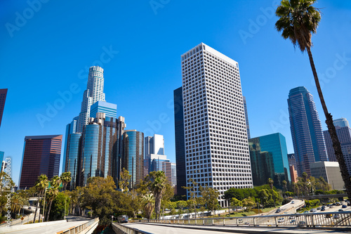 Foto op Aluminium Los Angeles Heart of Los Angeles Downtown