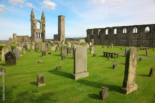 St Andrews cathedral grounds, Scotland, GB Canvas Print