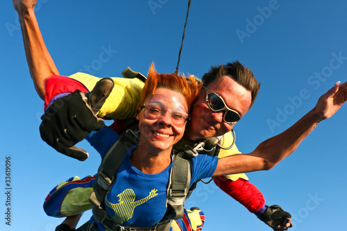 Spoed Foto op Canvas Luchtsport Skydiving photo