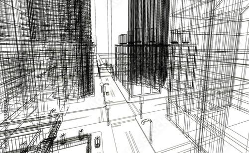 siatka-3d-render-budowy-budynkow
