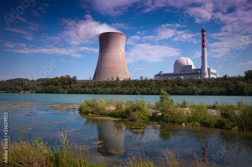 Atomkraftwerk am Rhein Canvas-taulu