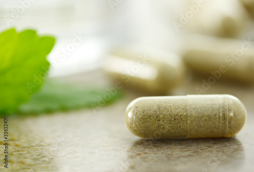 Fotografia  Close up image of herbal medicine