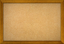 Office Cork Notice Board Isolated With Wood Frame