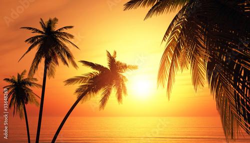 Foto-Kissen - Die Trauminsel bei Sonnenuntergang (von styleuneed)