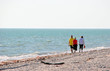 Friends Walking Beach