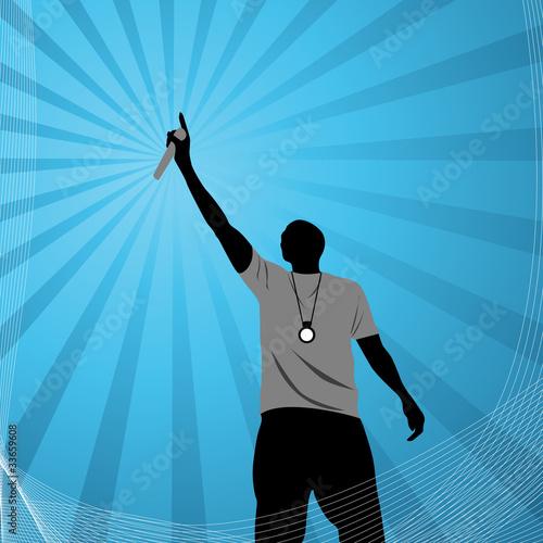 Fotografie, Obraz  rapper vector illustration