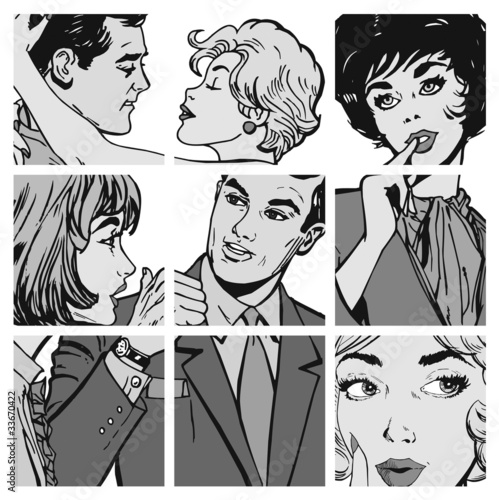 czarno-biale-komiksowe-zdjecia-zakochanych-par