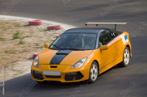 Poster Voitures rapides Fast car in a race