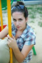 The Beautiful Girl On A Swing