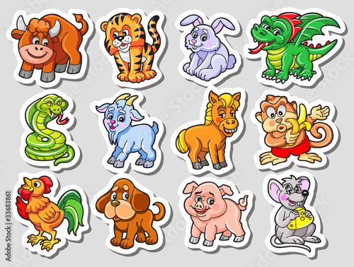 kolorowy-wektor-zestaw-znakow-chinskiego-horoskopu