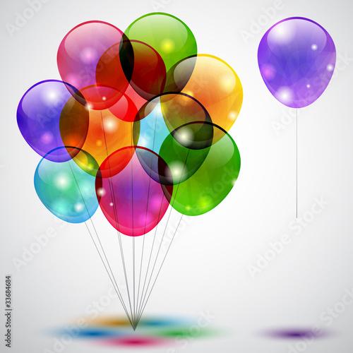 Sfondo con palloncini - Background with balloons