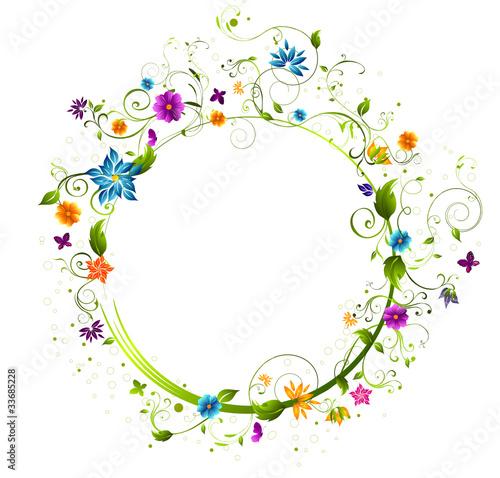 Fotografie, Obraz  cercle fleuri