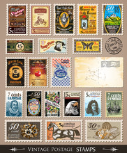 Collection Of Vintage Postage ...
