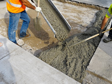 Roadworks: Pouring Cement