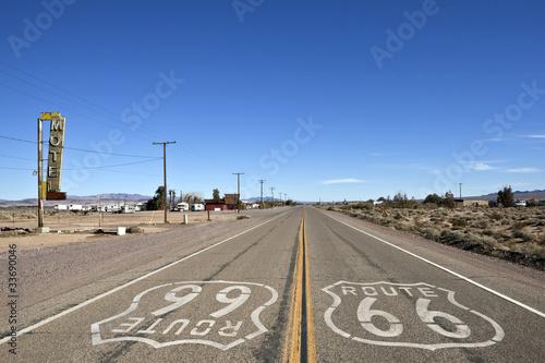 Fotografering  Bagdad California - Historic Route 66