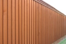 Angled View Of Cedar Fence