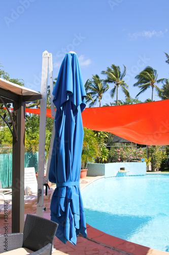 terrasse et piscine Wallpaper Mural