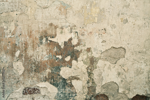 Aluminium Prints Old dirty textured wall Wall texture