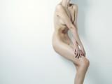 Nude elegant lady