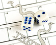 Risk concept - snakes and ladders