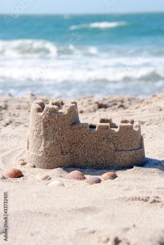 Foto-Rollo - Sandburg am Strand (von Dan Race)