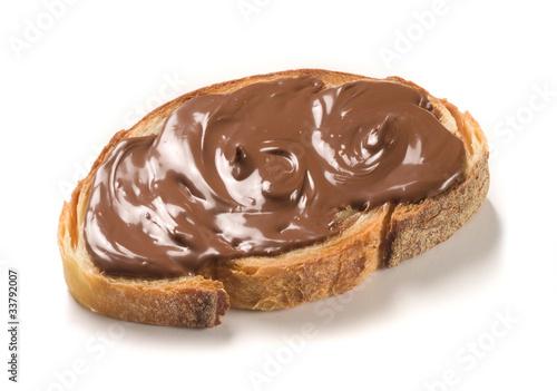Carta da parati chocolate cream on a slice of bread
