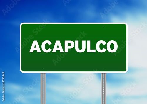 Fotografija  Acapulco Highway  Sign