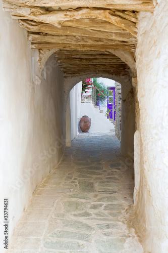 Fotobehang Smal steegje Folegandros Island Alley