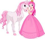Beautiful princess and horse