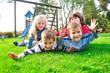 canvas print picture - Kinder beim spielen