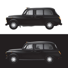 London Symbol -  Black Cab - Isolated - Businessman - Bankers