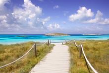 Beach Way To Illetas Paradise Beach Formentera