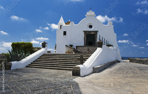 Fotomural  Church of Soccorso, Forio, Ischia, Italy