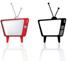 Cool Funky Design For A Retro Vintage Style Tv