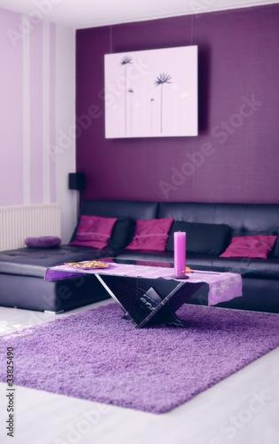 Fotografie, Obraz  Moderner Wohnraum lilac