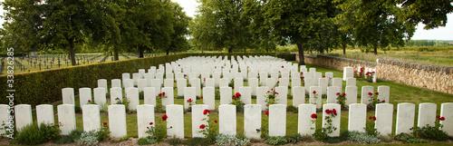 Photo sur Toile Cimetiere First World War Cemetery