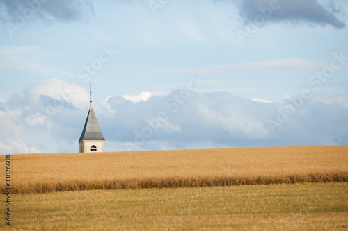 Obraz na plátne Church tower on horizon