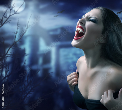 Photo Stands Full moon Vampire