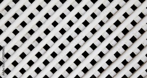 Fototapeta kratka  white-wood-lattice-texture