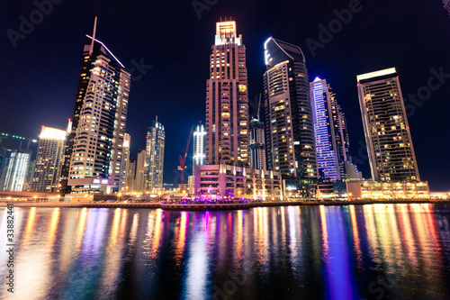 Fototapeta panorama   panorama-mariny-w-dubaju-noca
