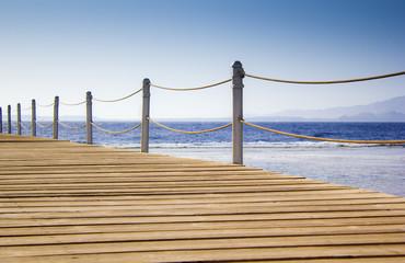 Fototapeta most pontonowy i morze