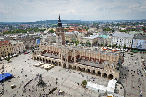 Photo  Old town in Krakow city panorama, Poland