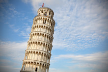 Leaning Tower Of Pisa At Sunse...