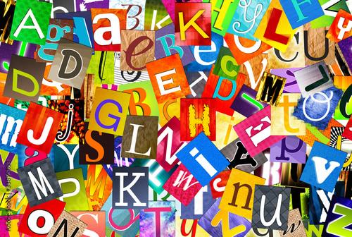 alphabet multicolore - mélange de lettres Wallpaper Mural